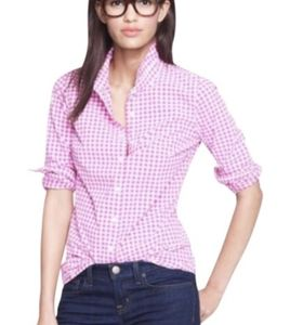 J. Crew The Perfect Crinkle Gingham Shirt